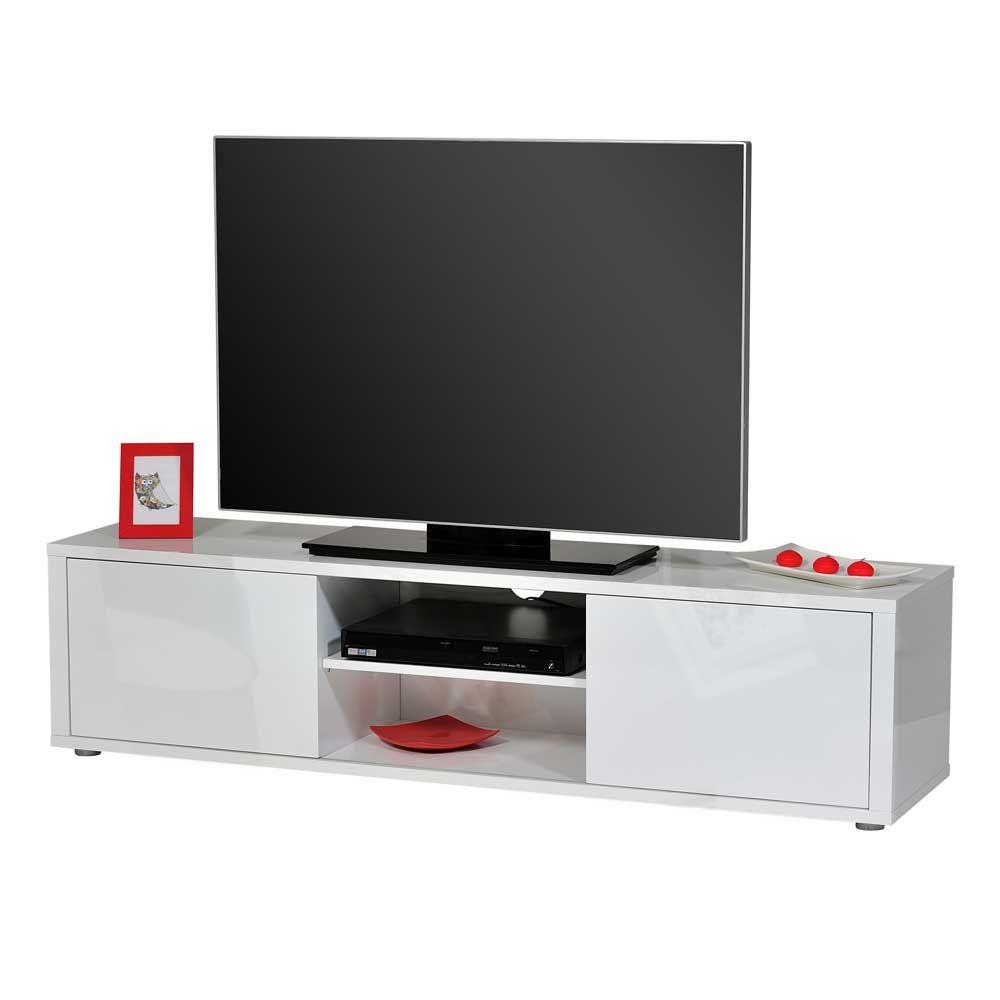 tv board in hochglanz wei 160 cm breit jetzt bestellen unter. Black Bedroom Furniture Sets. Home Design Ideas