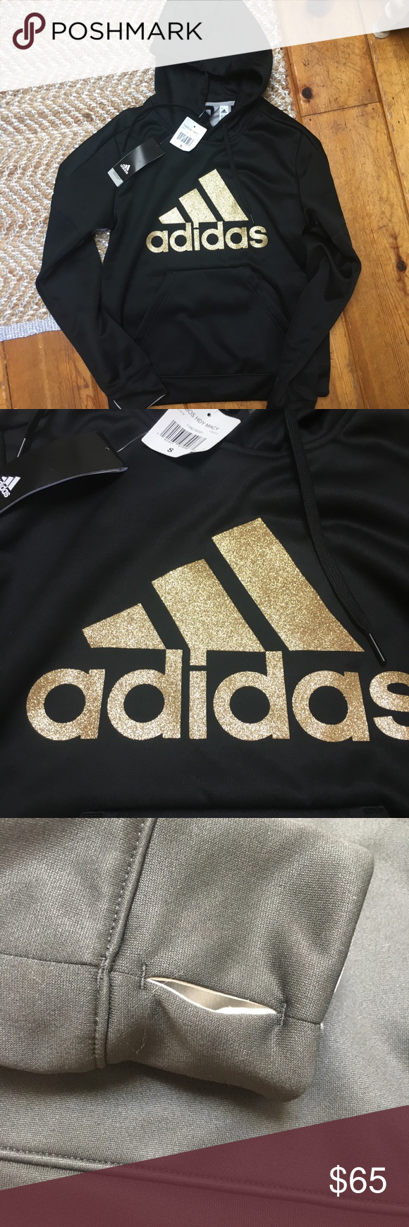 66b7942d5417 Adidas Black   Gold Trefoil Hoodie Small Brand new with sweatshirt with  tags. Has thumb