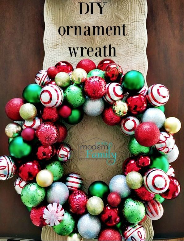 ornament wreath  the steps to make it (with pictures) Christmas