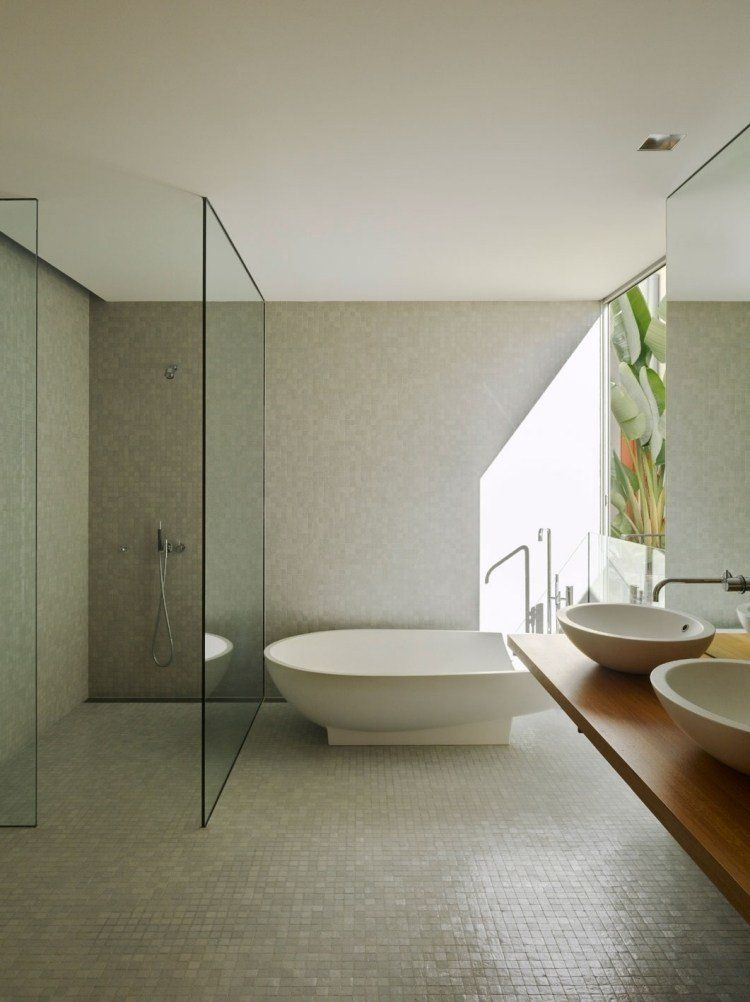 Douche à l\u0027italienne encastrable- 50 salles de bains modernes - Salle De Bain Moderne Douche Italienne