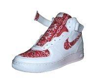 usanza bandana nike air force one scarpe bianche / revisione a metà