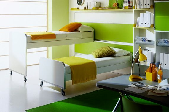Inspirational Pictures Of Kidsu0027 Bedroom Designs From Italian Maker Mariani.  Shows Kids Study Table, Shelves And Other Furniture. Design