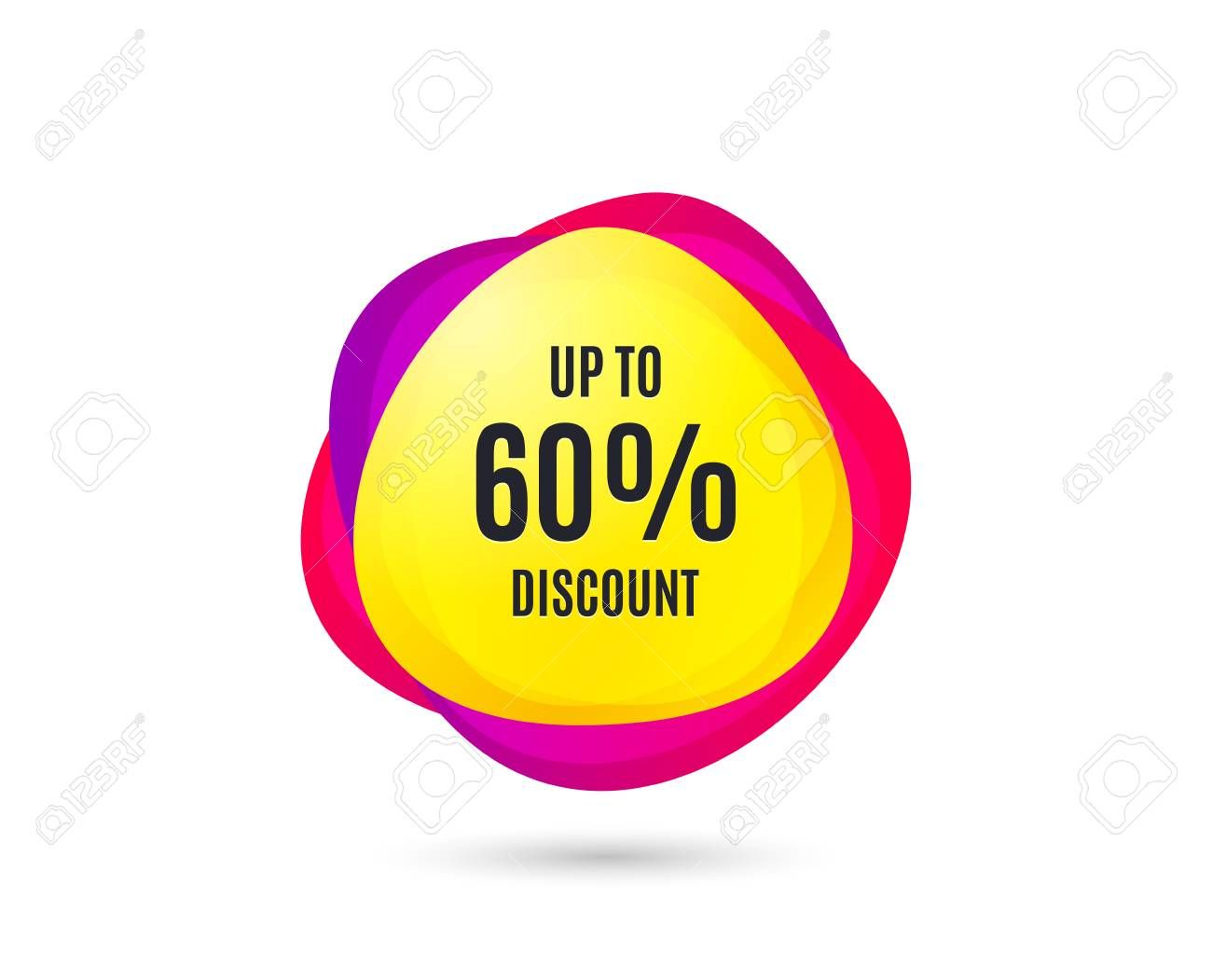 Up To 60 Discount Sale Offer Price Sign Special Offer
