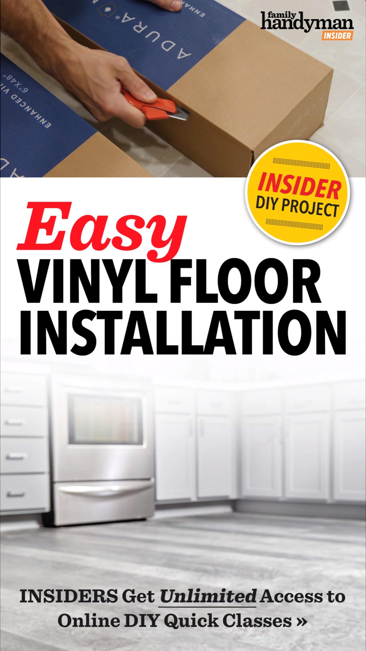 Easy Vinyl Floor Installation
