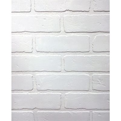 48 In X 8 Ft Embossed Paintable Brick White Wall Panel Brick Wall Paneling Faux Brick Panels Brick Paneling