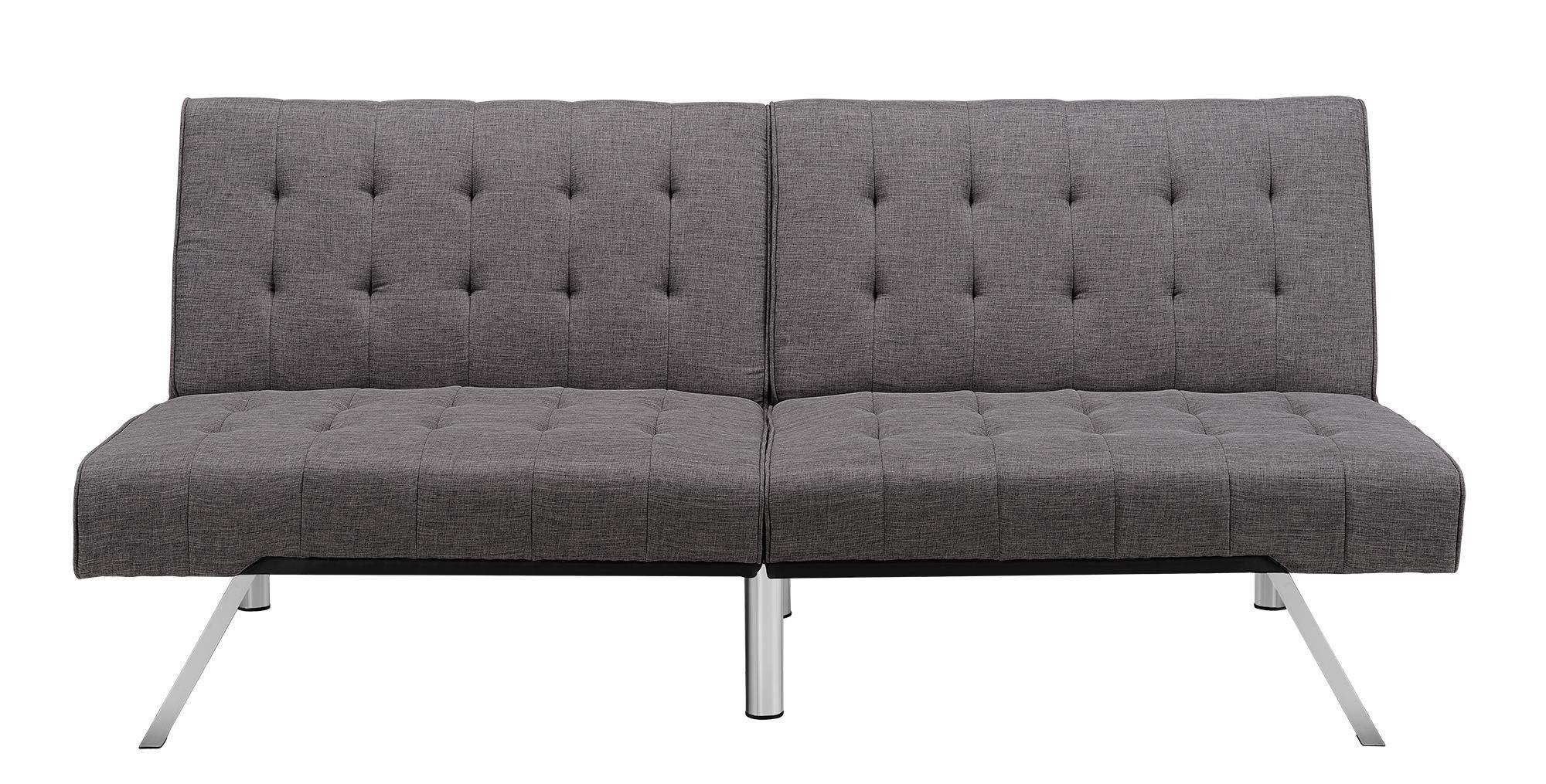 Miraculous Amazon Com Dhp Emily Splitback Futon Vanilla Furniture Inzonedesignstudio Interior Chair Design Inzonedesignstudiocom