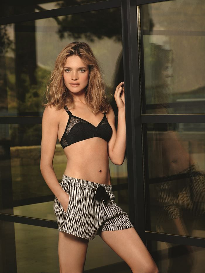 Natalia Vodianova Etam Lingerie Fall Winter 2015