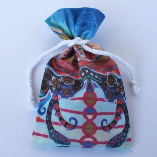 Original Designer Fabric Wrap Bag for Oracle Cards - Undulating Flourish - Limited Edition