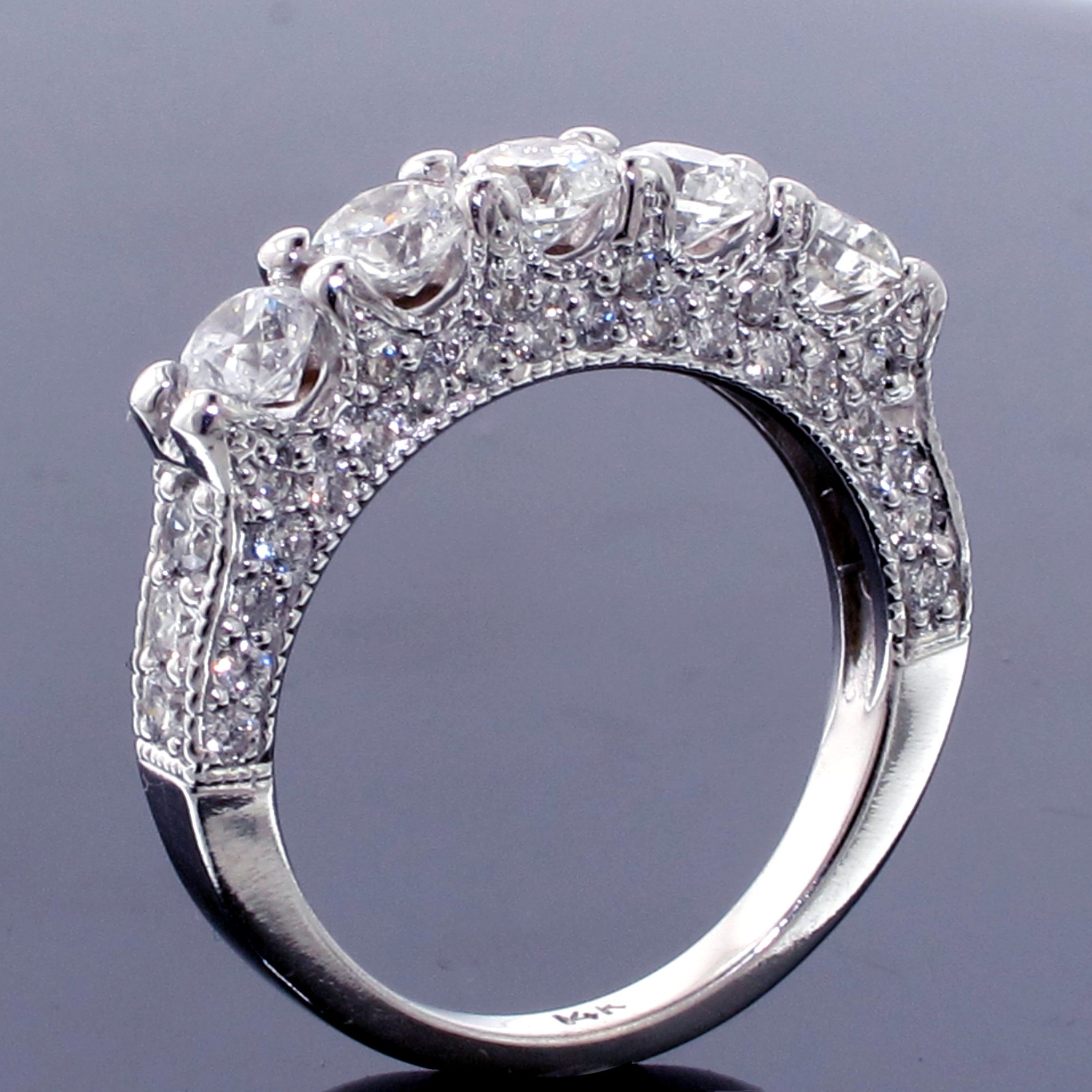 This Five Stone Diamond Encrusted Wedding Band Would Be A