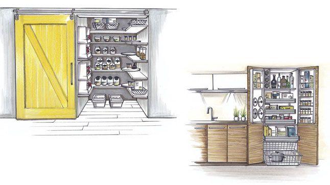 Être capable en un clin d'œil de voir ce qui manque, où se trouve votre thé préféré ou encore de trouver l'inspiration pour un repas, cela exige un garde-manger organisé. Voici deux solutions pour vous permettre d'optimiser espace et rangement.