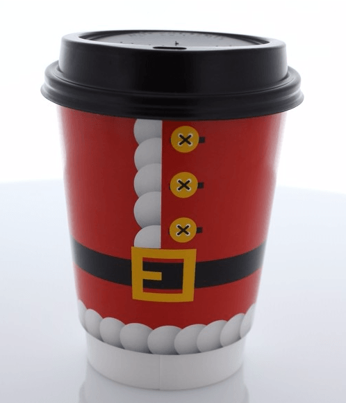 100 500x High Quality Double Walled Santa 12oz Disposable Paper Christmas Cups In A Christmas Themed Christmas Cups Disposable Coffee Cups Catering Supplies