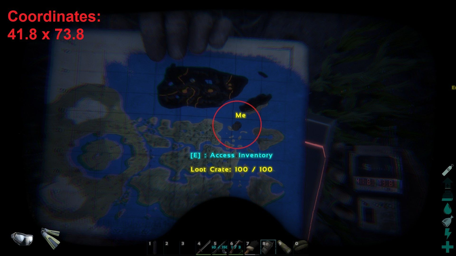 Map Coordinates For ARK Survival Evolved The Center Map Caves Locations,  Animals Spawns, Resource