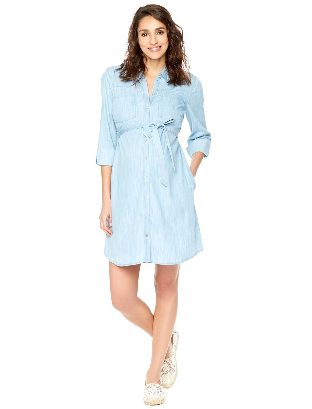 Belted chambray maternity shirt dress motherhood maternity belted chambray maternity shirt dress motherhood maternity ombrellifo Image collections