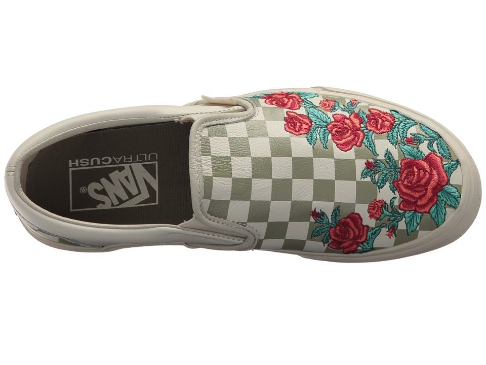 c12c1be08f Vans Classic Slip-On DX w  Rose Embroidery Athletic Shoes Marshmallow  Turtledove