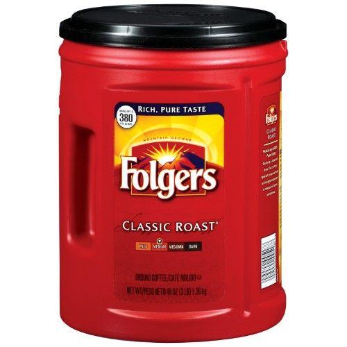 Folgers Medium Roast Ground Coffee Classic 48 Oz Recipes