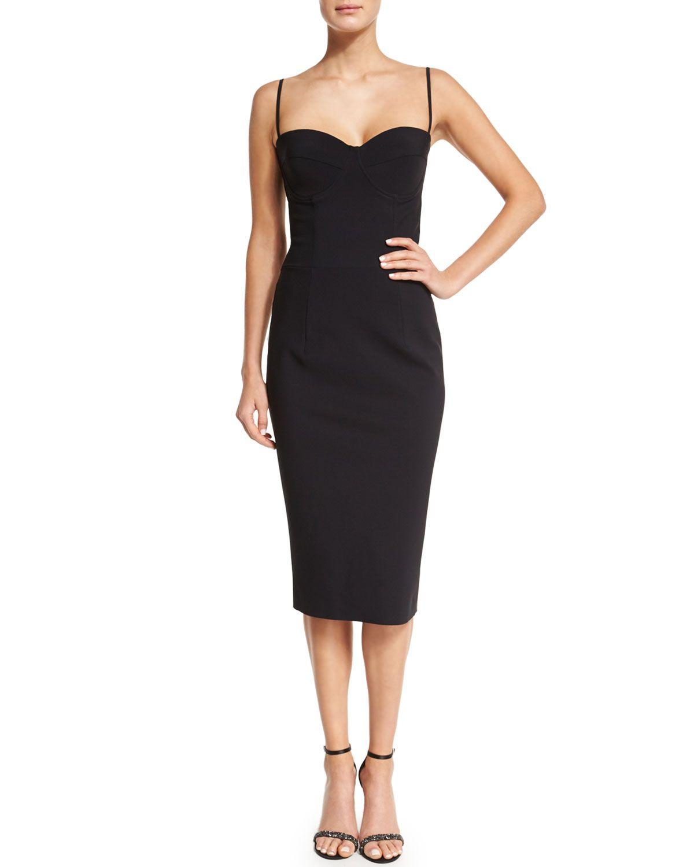 Dionella Spaghetti Strap Sweetheart Cocktail Dress, 37 Nero - La ...