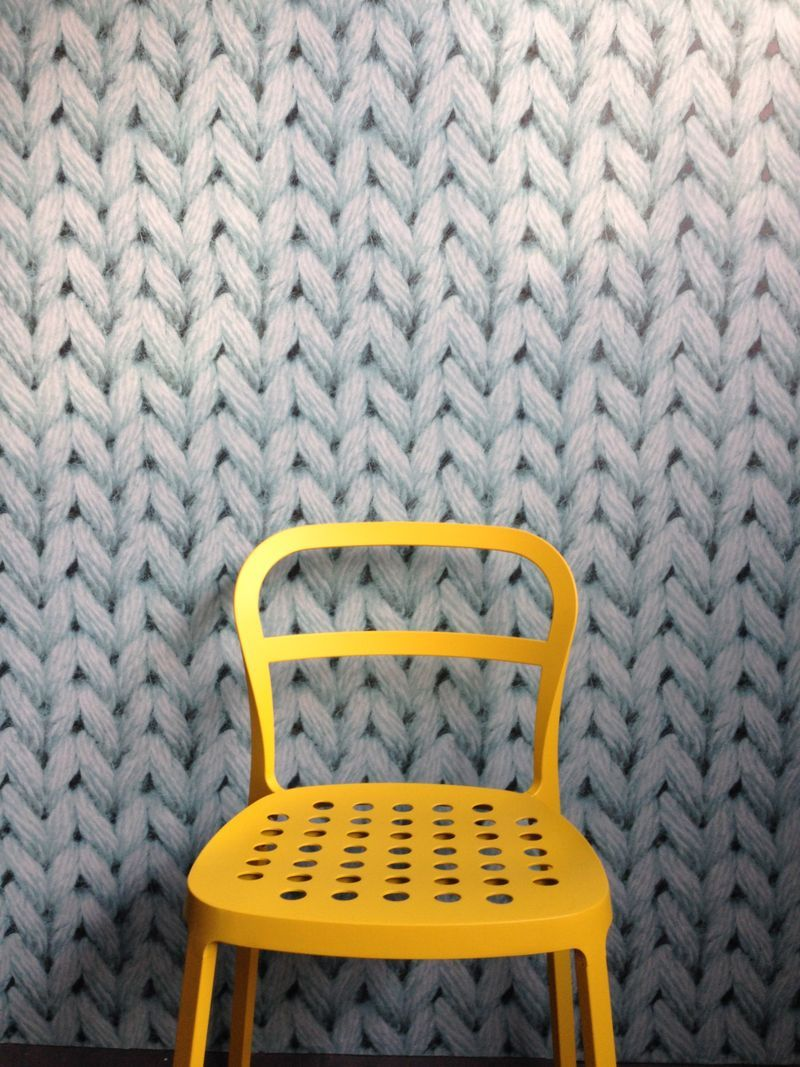 Brooklyn Craft Company Wallpapered With Knitted Wallpaper