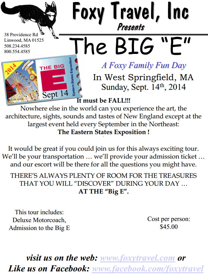 Join FTI at the Big E!