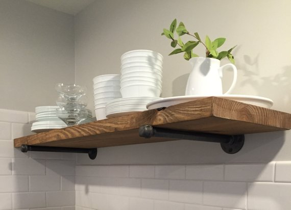Rustic Floating Shelf Industrial Floating Shelf Farmhouse Etsy Rustic Wood Floating Shelves Industrial Floating Shelves Wood Floating Shelves