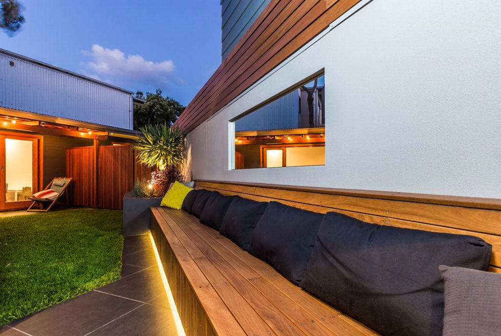 Outdoor Strip Lighting Outdoor Living Area Linking Areas With Mirror And Led Strip Lighting