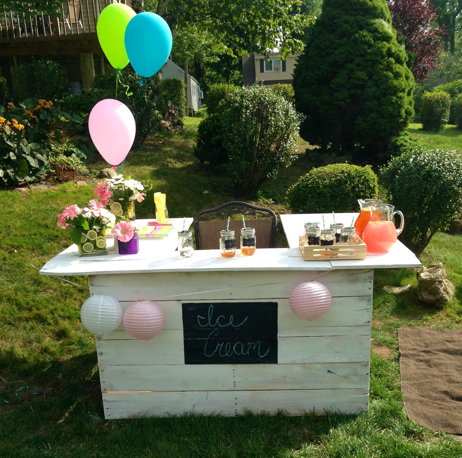 Birthday Party Ideas Augusta Ga: Ice Cream Sundae/Lemonade Stand Made From Pallets With A