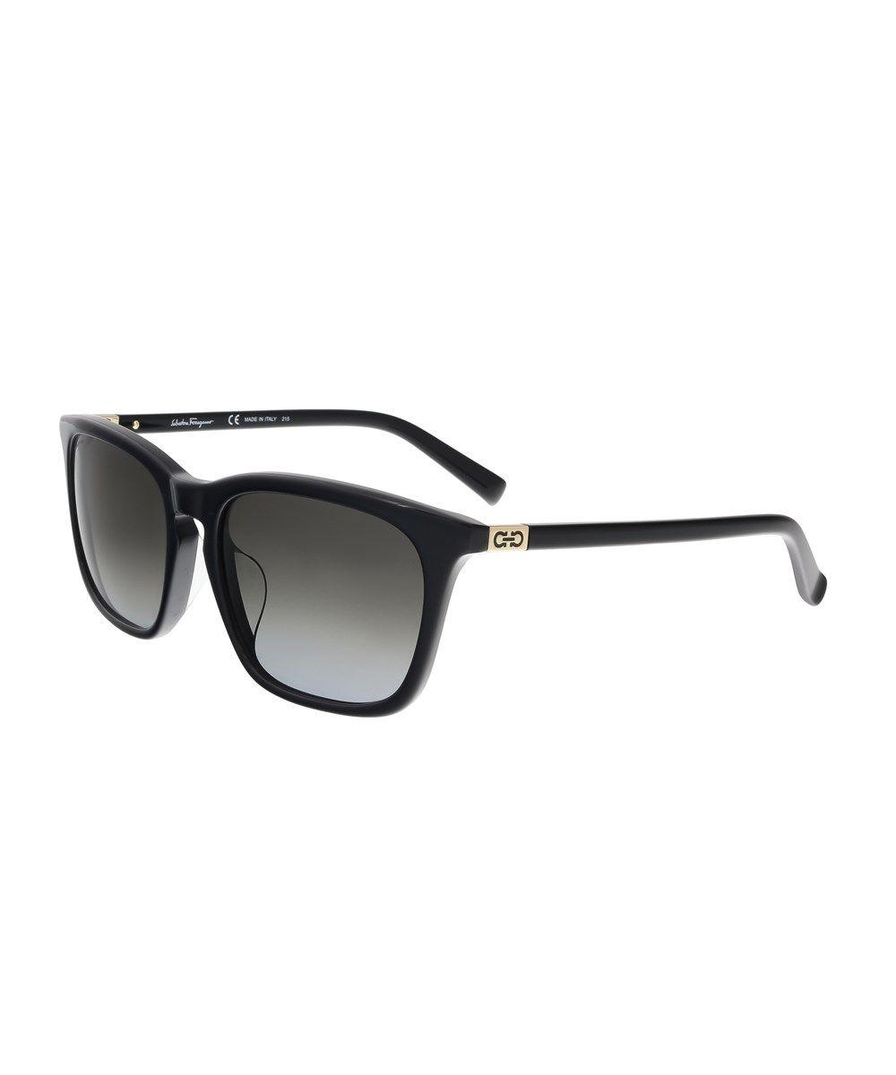 080a5acd52 SALVATORE FERRAGAMO Sf743 Sa 001 Black Rectangle Feline Sunglasses .   salvatoreferragamo  sunglasses