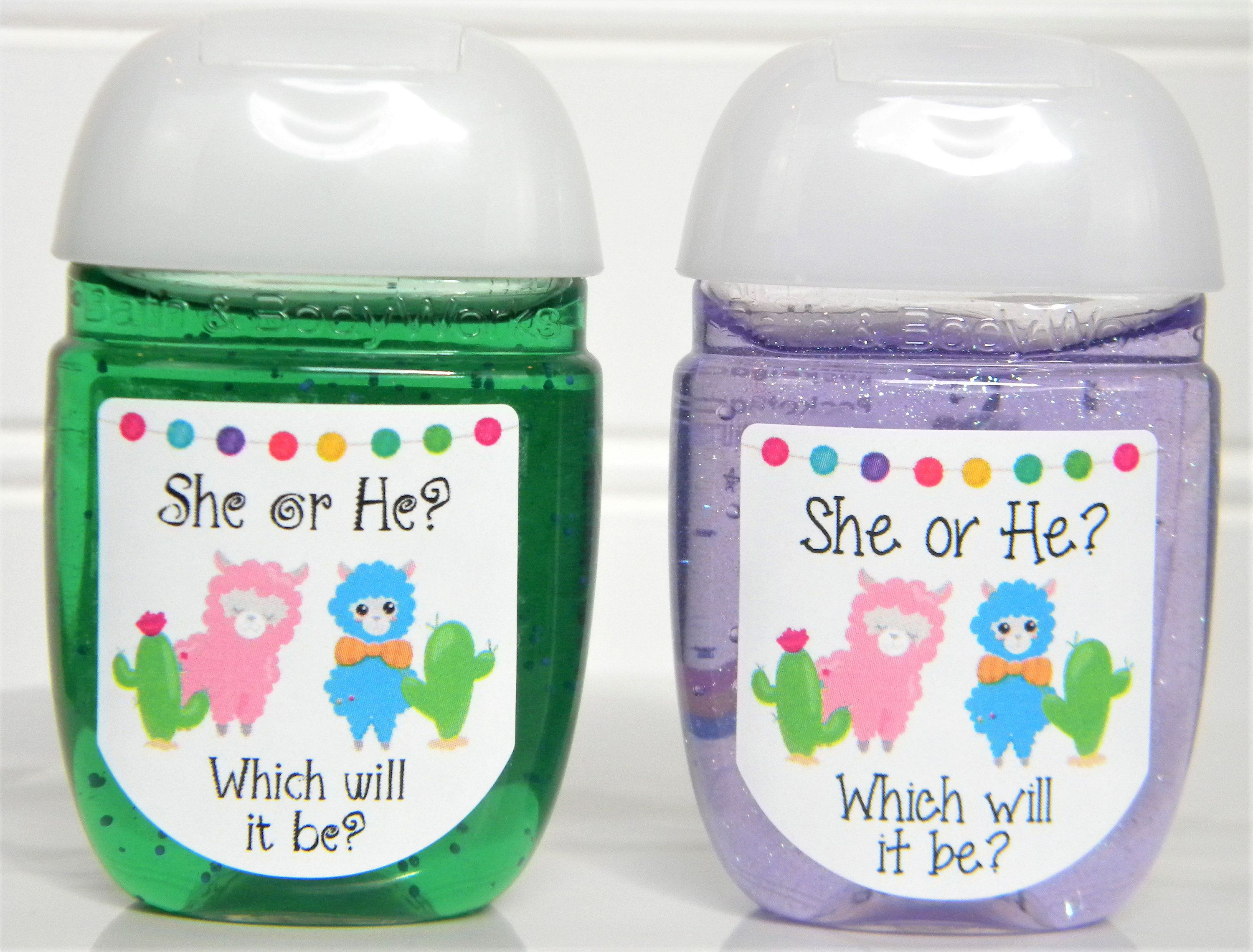 He Or She Llama Cactus Gender Reveal Baby Shower Hand Sanitizer