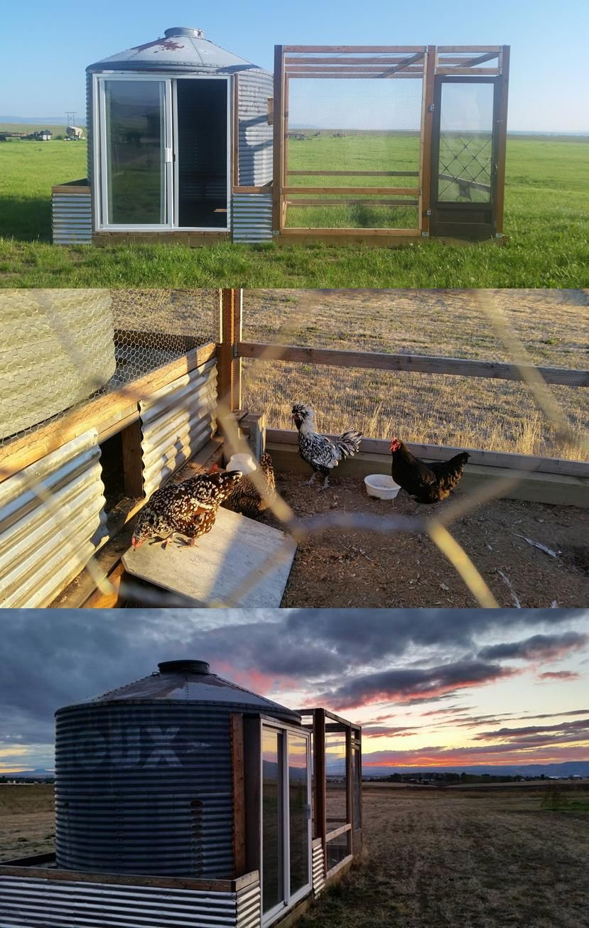 Chicken Coop From A Grain Silo Gardens And Outdoor