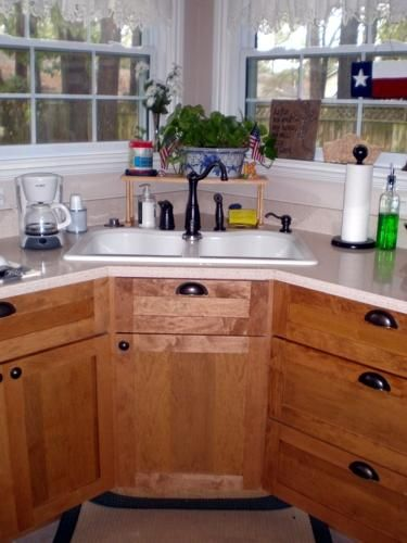 42 Custom Corner Sink Base Cabinet Corner Sink Kitchen Corner Sink Kitchen Layout