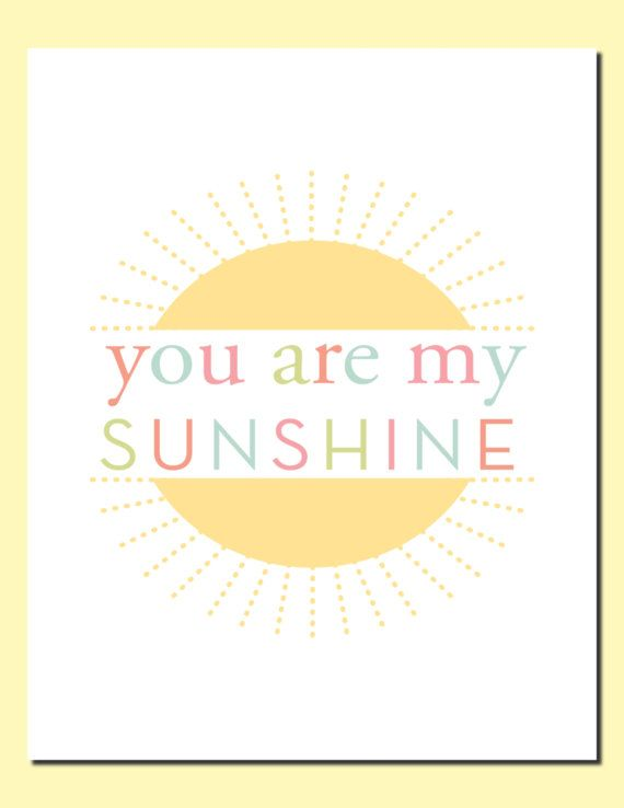 You are my sunshine, always - Kids Wall Art Nursery Art Decor Baby ...