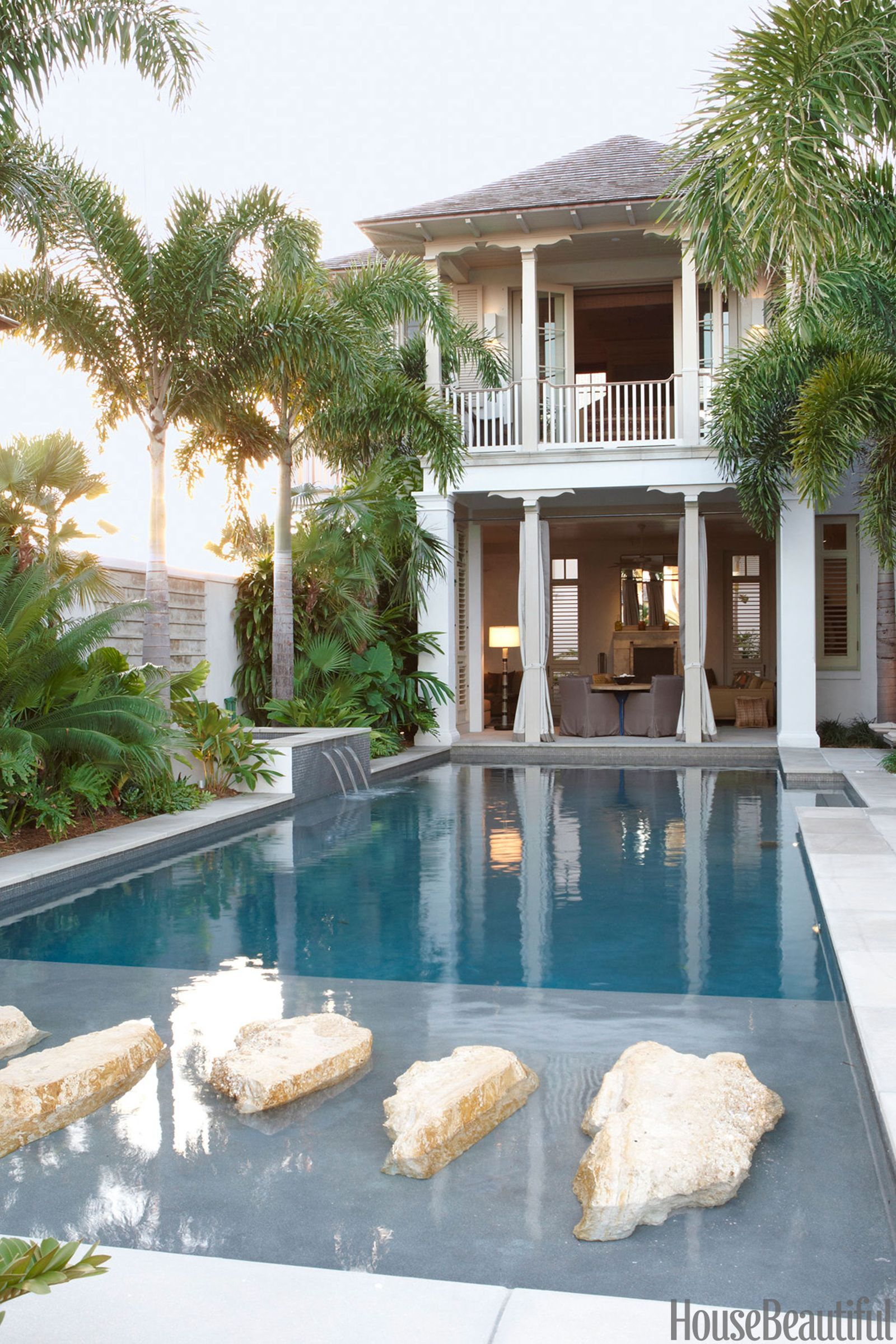 40 Swimming Pools You Ll Want To Lounge In Asap Pool Houses Pool House Plans Cool Swimming Pools