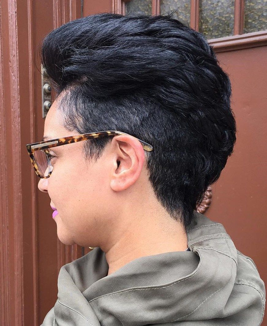 cute tapered natural hairstyles for afro hair short undercut