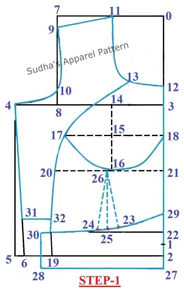 How To Make Double Katori Two Piece Katori Blouse With Sleeve