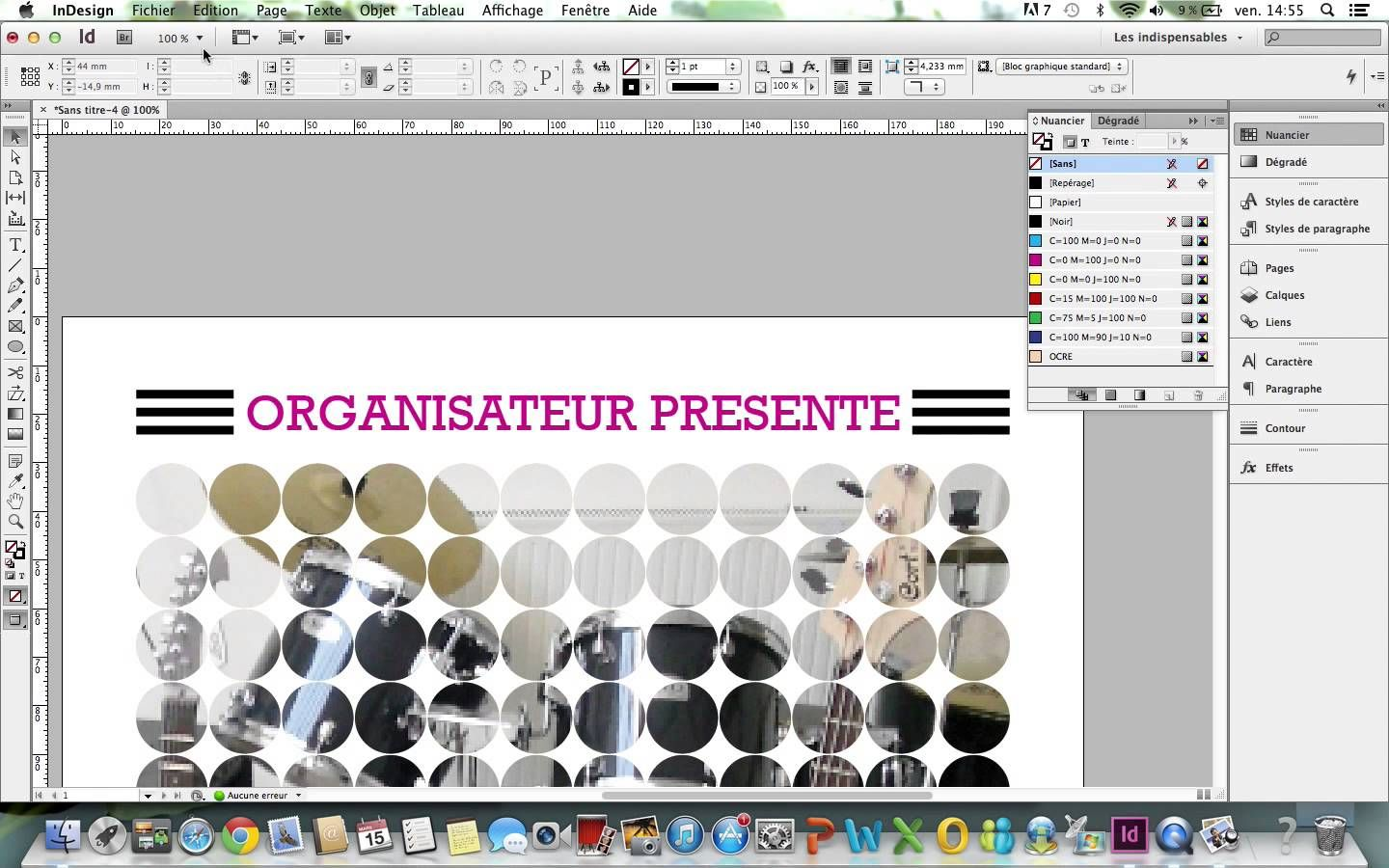 cr u00e9er une affiche indesign