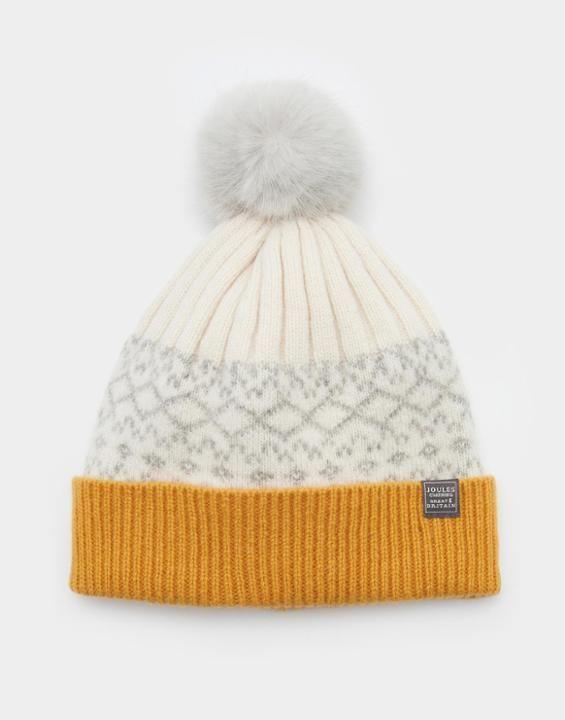 ELSA Fairisle Pom Pom Hat | My Joules | Pinterest | Pom pom hat ...