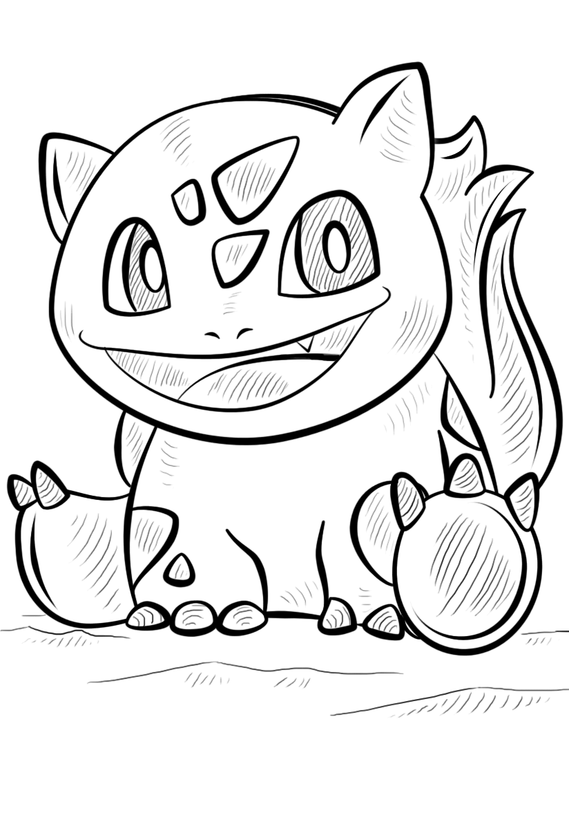 Cute Bulbasaur Coloring Pages Pokemon Coloring Pages Pokemon Coloring Pokemon Drawings