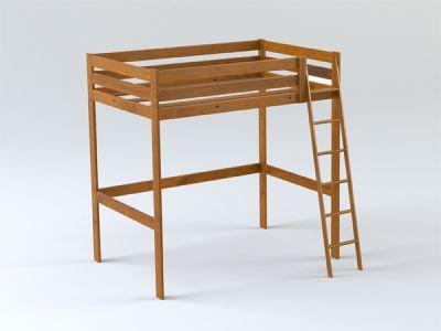 LUFE cama alta barnizada y teñida en color cerezo. Venta online en ...