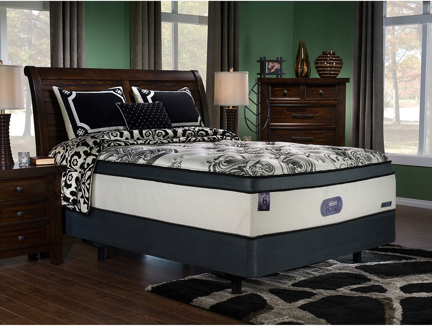 beautyresta hotel 6 diamond plush ultra comfort top queen mattress