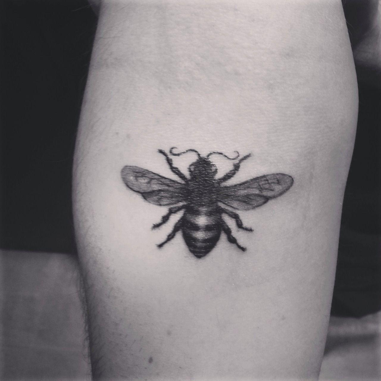 Honey Bee Tattoo By Sam King At Golden Spiral Greensboro NC USA