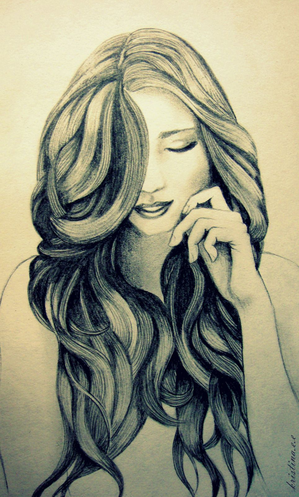 hair drawing the art