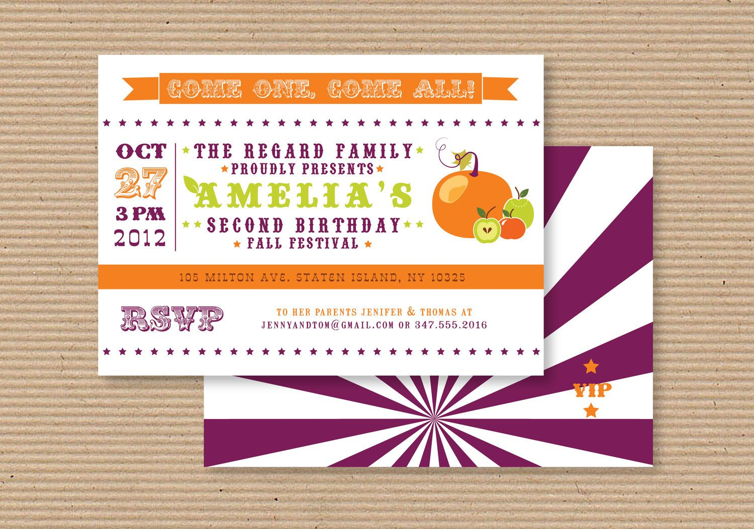 Fall Carnival Festival Birthday Party Invitation And By Luvalexa 1800