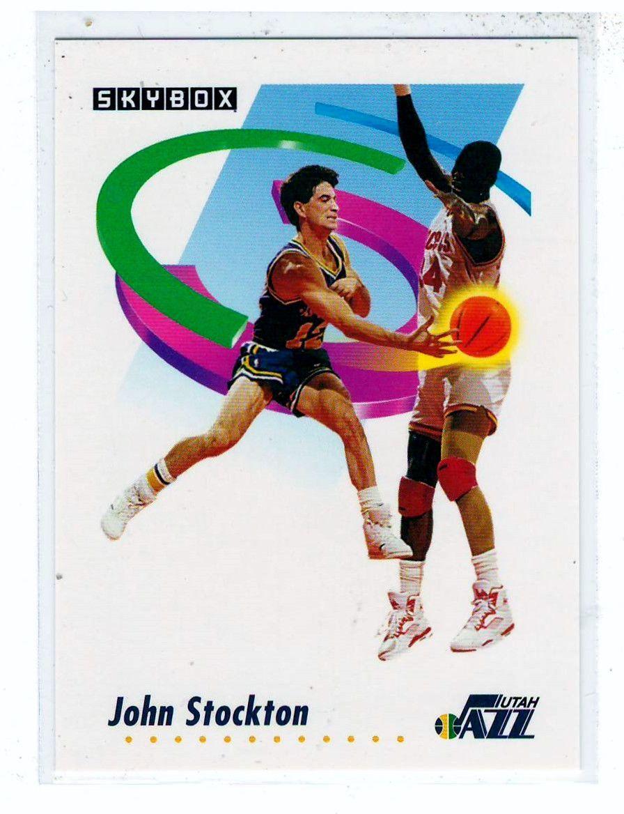 Sports Cards Basketball 1991 Skybox John Stockton John