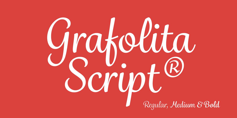 Grafolita Script™ - Webfont & Desktop font « MyFonts
