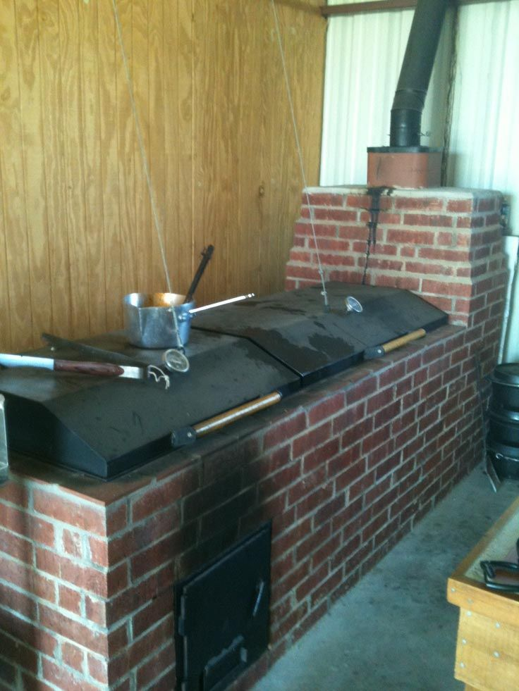 Brick bbq grill and smoker plans bbq pinterest for Outdoor kitchen bbq grill