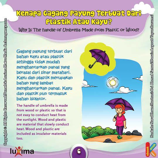 Kenapa Gagang Payung Sengaja Dibuat Dari Bahan Kayu Atau Plastik Ebook Anak Sains Anak Pengetahuan Buku Pelajaran