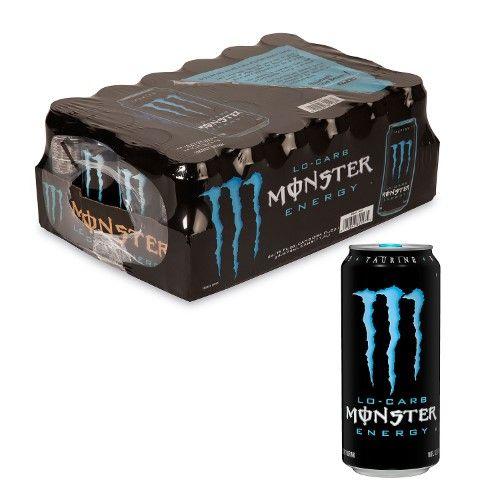 Monster Lo Carb Energy Drink 16 Fl Oz Pack Of 24 Energy Drinks Monster Energy Drink Healthy Drinks