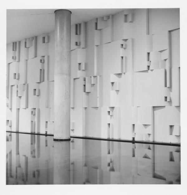 Muro, Centro Empresarial Itaú Conceição – CEIC #wall #sergiocamargo #art #abstraction #sculpture #concrete #geometry