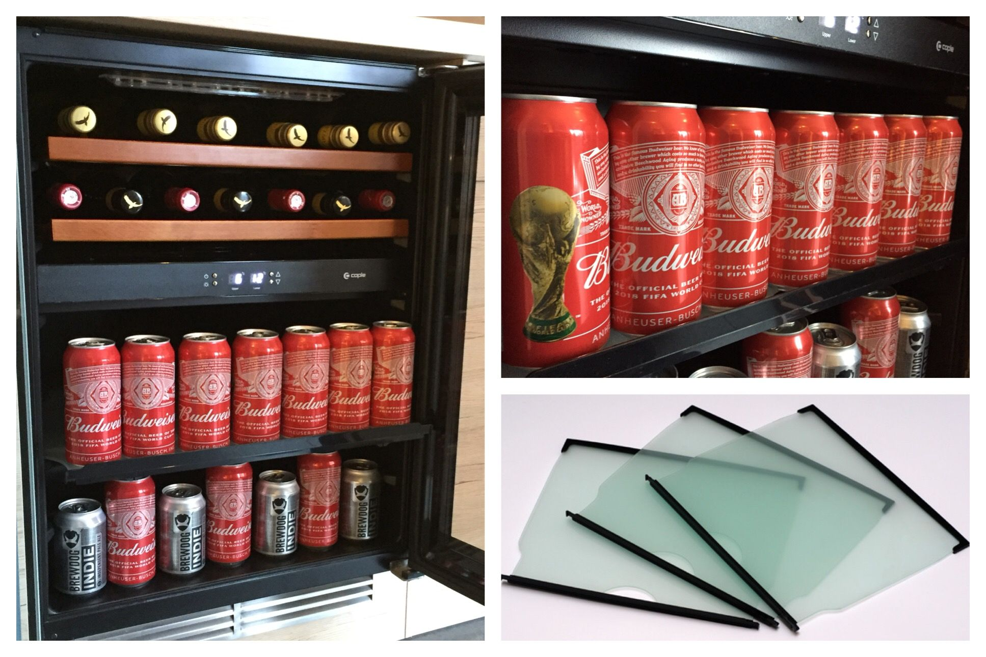 Stylish Caple Wine Cooler Converted Into A Beer Fridge With A Set Of Glass Shelving You Can Convert Your Wine Built In Wine Cooler Wine Cooler Wine Cabinets