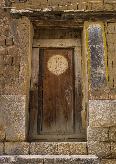 Old Door Tuan Shan Village Yunnan Province China Chinese Door Old Door Chinese Architecture