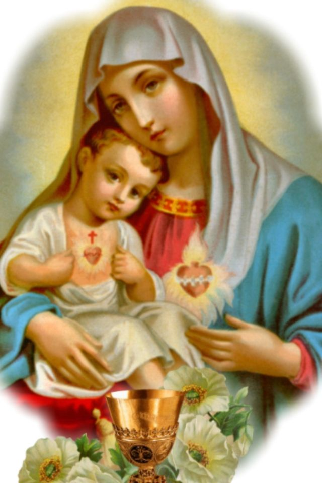 blessed virgin mary and baby jesus maria pinterest blessed